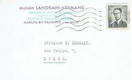 CP Publicitaire MARCHE-EN-FAMENNE 1959 - Maison LANDRAIN-HEYMANS - Machines & Articles De Bureau , Meubles Métalliques - Marche-en-Famenne
