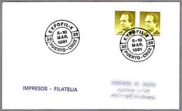 Matasellos X EXPOFIL. Puerto De La Cruz, Canarias, 1991 - 1931-Hoy: 2ª República - ... Juan Carlos I