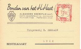 PK Publicitaire MECHELEN 1953 - BONDEN VAN HET H. HART - Boekhandel - Malines