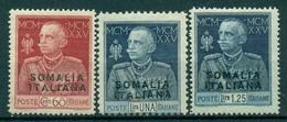 V9878 ITALIA COLONIE SOMALIA 1925-26 Giubileo MNH** Dent. 11 (c. 60) + 13 1/2, Serie Completa, Valut. Sassone: € 25, - Somalia
