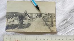 WWI ARDEUIL CHAMPAGNE POSTCARD CARD POSTKARTE CARTE POSTALE PHOTO GERMAN GERMANY GRAVEYARD - Oorlog 1914-18