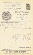 CP Publicitaire - MOUSCRON 1959 - D. & H. DESSEAUX - Imprimerie - Papeterie - Librairie - Mouscron - Moeskroen