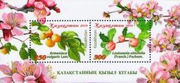 Kazakhstan 2018 Flora Trees Fruits Red Book SS Of 2v MNH - Obst & Früchte