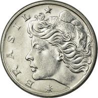 Monnaie, Brésil, 10 Centavos, 1975, SUP, Stainless Steel, KM:578.1a - Brésil
