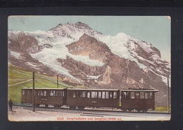 Schweiz AK Jungfraubahn 1921 - Treinen