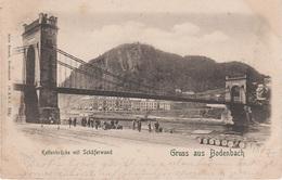 AK Bodenbach Podmokly Tetschen Decin Kettenbrücke Brücke Schäferwand Hafen Weiher Rothberg Rotberg Böhmische Schweiz - Sudeten