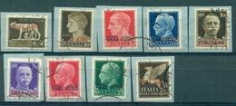 Z1376 ITALIA OCCUPAZIONI ISOLE IONIE 1941 Imperiale Sovrastampata, Serie Completa, Timbrata Su Frammenti, Ottime Condizi - Isole Jonie