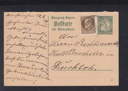 Bayern Antwortkarte Mit ZuF 1919 Gelaufen - Bayern (Baviera)