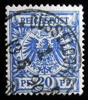 1889 Allemagne Empire Y&T 47, 48, REICHPOST Crown / Eagle Oblitération DUSSELDORF - Oblitérés