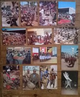Lot De 26 Cartes Postales / Danses Marchés Musique AFRIQUE / BURKINA FASO Ouagadougou Haute Volta - Burkina Faso