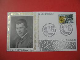 Enveloppe  1984 - 50 ème Anniversaire Combat Des Maquis Ain Haut-Jura Avril 1944 P. De Vanssay  Cachet Nantua - Storia Postale