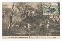 Belgisch Congo Belge Attaque D'une Termitière Sur La Nouvelle Route De Lukafu CPA PK EP - Belgian Congo - Other