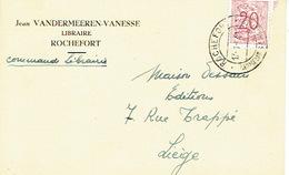 CP Publicitaire - ROCHEFORT 1954 - Jean VANDERMEEREN-VANESSE - Librairie - Rochefort