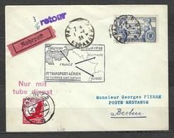 Premier Transport Aérien De Courrier Sans Surtaxe Le 1er Juin 1938, Affranchissement Mixte, Courrier Non Réclamé - Germany