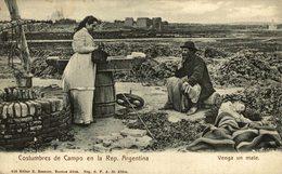 COSTUMBRES DE CAMPO EN LA REP ARGENTINA. VENGA UN MATE. -  Fonds Victor FORBIN 1864-1947 - Argentina