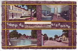 (02). Sissonne. 19 Le Camp Infirmerie Piscine Poste De Police - Sissonne