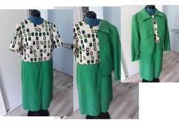 ENSEMBLE VINTAGE - ROBE - VESTE - Vintage Clothes & Linen