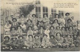 18 - Jean RAMEAU - Les Mutualistes De St-JUST En BERRY - Fête Du 17 Mai 1914. Beau Plan, CPA Ayant Circulé En 1914. - Autres Communes