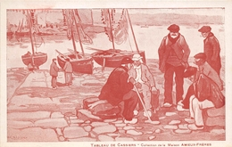 """¤¤   -  Carte Publicitaire De La Maison """" AMIEUX-FRERES """" De Nantes - Chantenay  - Tableau De """" CASSIERS """" -   ¤¤ - Publicité"""
