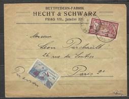 France, Vol Intérieur Strasbourg - Paris, N° 121 Seul Sur Lettre Accompagné D'une Vignette Thématique Poste Aérienne - Marcophilie (Lettres)