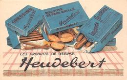 """¤¤  -  Carte Publicitaire   -  Les Produits De Régime """" HEUDEBERT """" - Biscottes De Pain Grillé  -  Illustrateur   -   ¤¤ - Publicité"""