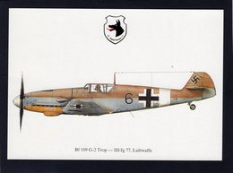 Bf 109 G-2 Trop  -  III/Jg 77, Luftwaffe  -  CPM - 1939-1945: 2ème Guerre