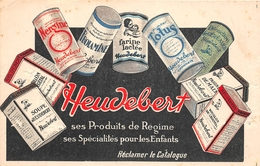 """¤¤  -  Carte Publicitaire   -  Les Produits De Régime """" HEUDEBERT """" - Farine Lactée, Soupe  -  Illustrateur   -   ¤¤ - Publicité"""