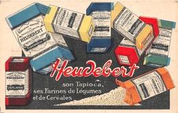 """¤¤  -  Carte Publicitaire   -  Les Produits De Régime """" HEUDEBERT """" - Tapioca, Farines  -  Illustrateur   -   ¤¤ - Publicité"""