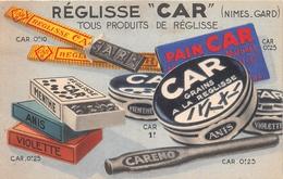 """¤¤  -  Carte Publicitaire   -  Réglisse """" CAR """"   -  Illustrateur   -   ¤¤ - Publicité"""