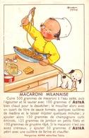 """¤¤  -  Carte Publicitaire  -  Margarine """" ASTRA """" - Recette """" Macaroni Milanaise""""   -  Illustrateur """" Béatrice MALLET """" - Publicité"""