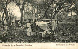 RECUERDO DE LA REP DE ARGENTINA. CAMPAMENTO EN EL CHACO. -  Fonds Victor FORBIN 1864-1947 - Argentina