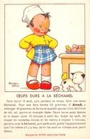 """Carte Publicitaire - Margarine """" ASTRA """"- Recette """" Oeufs Durs à La Béchamelle """" - Illustrateur """" Béatrice MALLET """" - Publicité"""