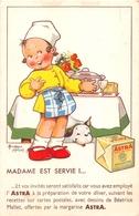 """Carte Publicitaire  -  Margarine """" ASTRA """"-  Madame Est Servie !  - Illustrateur """" Béatrice MALLET """" - Publicité"""