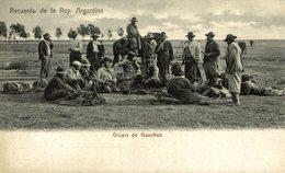 RECUERDO DE LA REP DE ARGENTINA. GRUPO DE GAUCHOS. -  Fonds Victor FORBIN 1864-1947 - Argentina