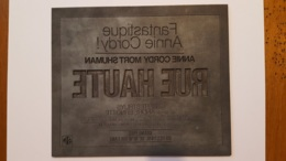 PLAQUE METAL PUBLICITAIRE FILM  RUE HAUTE 1976 - Cartelli Pubblicitari