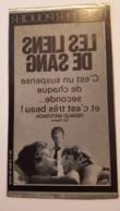 PLAQUE METAL PUBLICITAIRE FILM  LES LIENS DE SANG 1978  CLAUDE CHABROL - Plaques Publicitaires