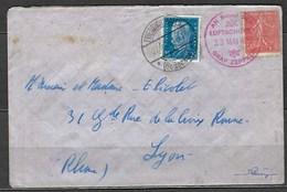 Affranchissement Mixte, Circulé Par Zeppelin Le 23 Mai 1929 De L'Allemagne Pour La France - Airmail
