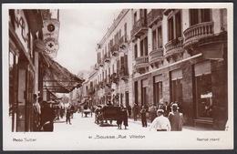 CPA - Tunsie, SOUSSE, Rue Villedon, Carte Photo - Tunisia