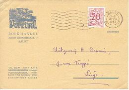 Postkaart Publicitaire 1952 AALST - PARCIVAL - Boekhandel - Aalst