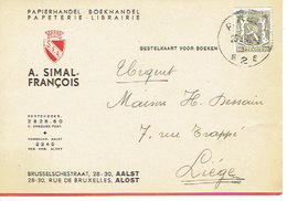PK Publicitaire AALST 1947 - A. SIMAL-FRANCOIS - Boekhandel - Papierhandel - Aalst