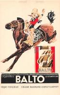 """Carte Publicitaire  -  Illustrateur """" René VINCENT """" -  Cigarette """" BALTO """" - Publicité"""