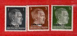 (Mn1) Germany Deutsche Reich UKRAINE *1941 - Yvert. 39-40-42. MLH   Vedi Descrizione - Duitsland