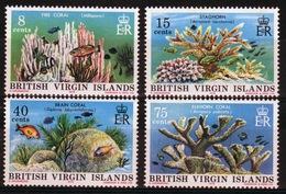 British Virgin Islands 1978 Queen Elizabeth Set Of Stamps Celebrating Corals. - British Virgin Islands