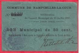 France  1 Bon De 1 Franc  --Nampcelles-La -Cour -- (Aisne) Dans L 'état - Bonds & Basic Needs