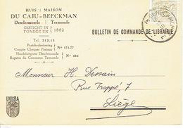 PK Publicitaire DENDERMONDE 1959 - DU CAJU-BEECKMAN - Boekhandel - Dendermonde
