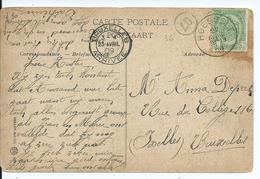 Fantasiekaart Met OCB 83 - Afstempeling HOESSELT - COBA 15 - 1893-1907 Coat Of Arms