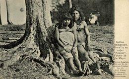 INDIOS CHAMACOCO IOATA Y SU MUJER NOZZAE. PUERTO 14 MAYO. -  Fonds Victor FORBIN 1864-1947 / PLAIN BACK - Paraguay