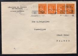 FINLANDE - SUOMI - HELSINKI / 1957 LETTRE DE LA LEGATION DE FRANCE POUR LA FRANCE (ref LE3471) - Finnland
