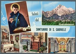 °°° Cartolina N. 64 Saluti Dal Santuario Di S. Gabriele Viaggiata °°° - Teramo