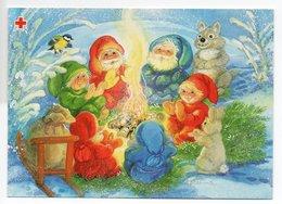 Postal Stationery RED CROSS  FINLAND - Artist: Marjaliisa Pitkäranta - GNOMES & ANIMALS - Postage Paid - Postwaardestukken